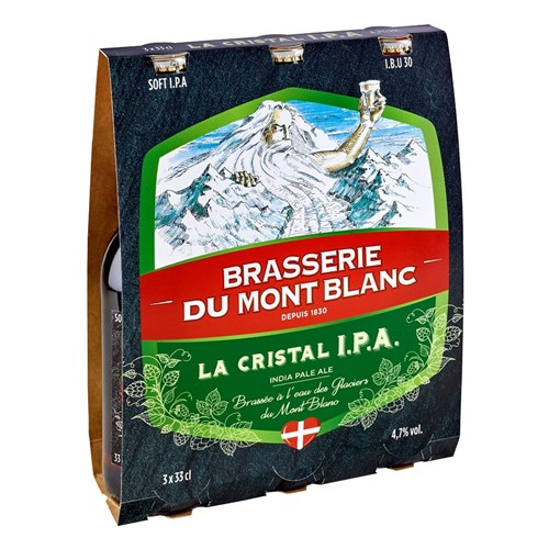Beer from Mont-Blanc La Cristal IPA - 4.7 ° (33cl) 6b11bd6ba9341f0271941e7df664d056
