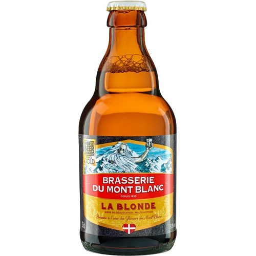 Blond beer 5.8 ° 33 cl Brasserie du Mont-Blanc
