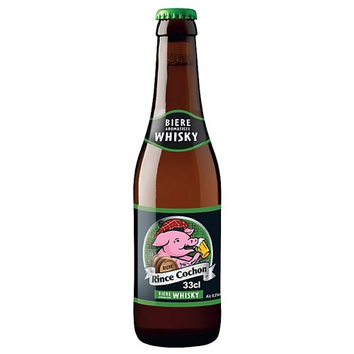 Rince Cochon beer flavored with whiskey 8.5 ° 33 cl