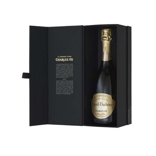 Great Cuvée Charles VII and 2 flutes Box - Champagne Duchene Canard