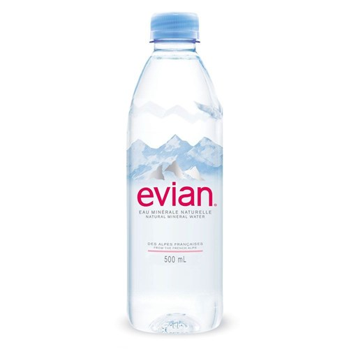 Natural mineral water Evian Prestige 50 cl