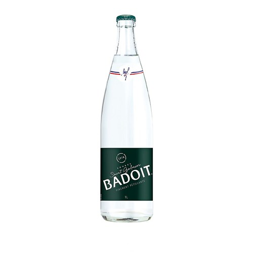 Natural mineral water fizzy Badoit 1L