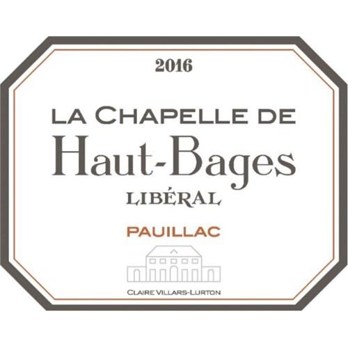 La Chapelle de Haut Bages Libéral - Château Haut Bages Libéral - Pauillac 2016