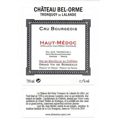 Château Bel Ormes Tronquoy of Lalande - Haut-Médoc 2005 11166fe81142afc18593181d6269c740