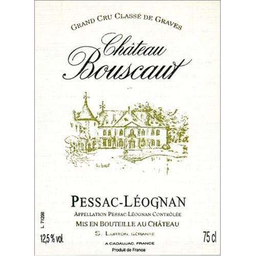 Château Bouscaut blanc - Pessac-Léognan 2018