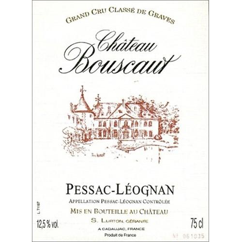 Château Bouscaut rouge - Pessac-Léognan 2018
