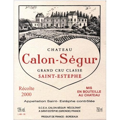 Château Calon Ségur - Saint-Estèphe 2000 6b11bd6ba9341f0271941e7df664d056