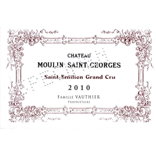 Château Moulin Saint-Georges - Saint-Emilion Grand Cru 2010