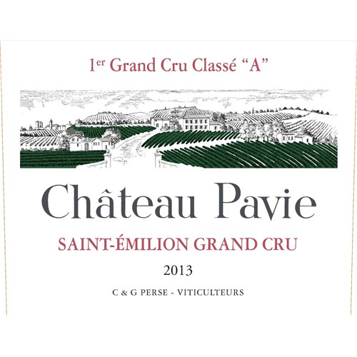 Chateau Pavie - Saint-Emilion Grand Cru 2013