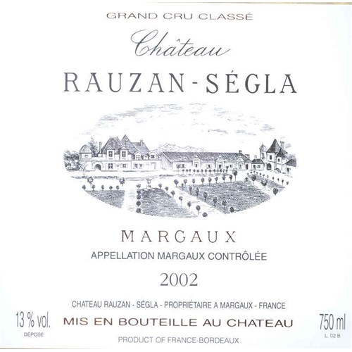 Château Rauzan Ségla - Margaux 2002 6b11bd6ba9341f0271941e7df664d056