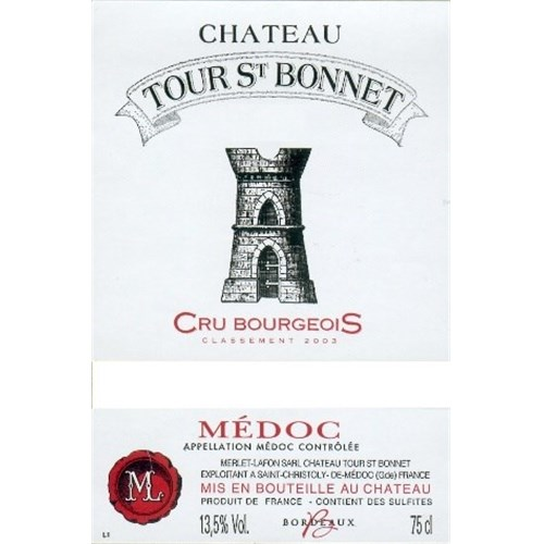 Château Tour Saint Bonnet - Medoc 2015