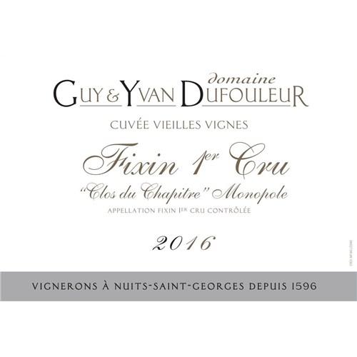 Clos du Chapitre - Domaine Dufouleur - Fixin 1er Cru 2016