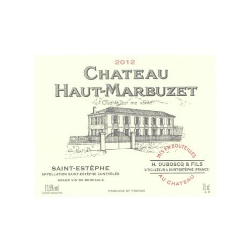 Double Magnum Château Haut-Marbuzet - Saint-Estèphe 2012