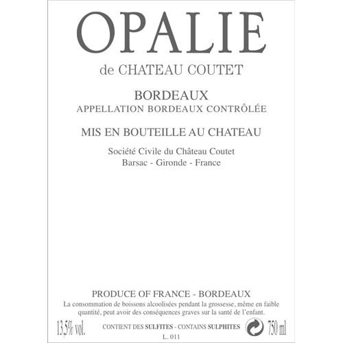 Opalie from Château Coutet - Bordeaux 2019 b5952cb1c3ab96cb3c8c63cfb3dccaca