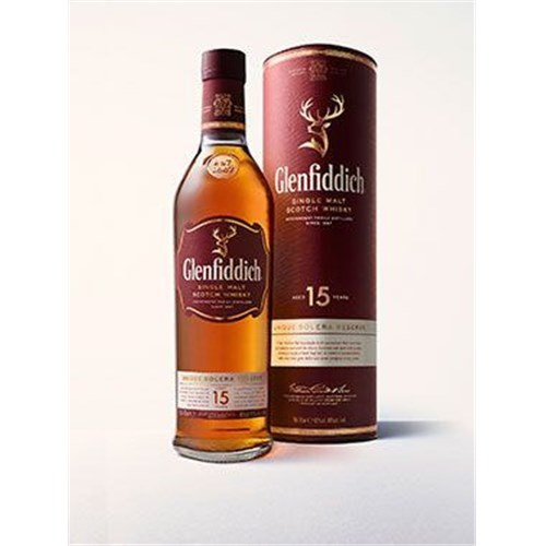Glenfiddich Whiskey 15 Years Old - Unique Solera Reserve - 40 ° 70 cl 11166fe81142afc18593181d6269c740
