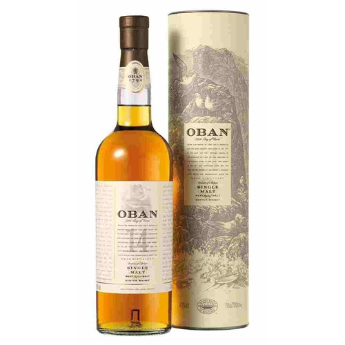 Whiskey Oban 14 years old 43 ° 70 CL with case 6b11bd6ba9341f0271941e7df664d056
