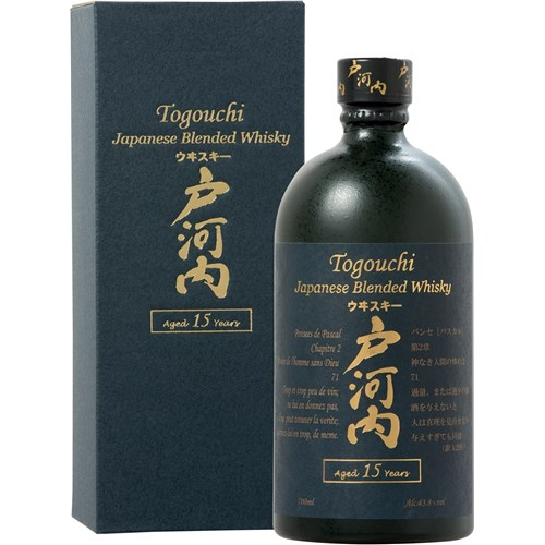 Whiskey Togouchi 15 years 43.8 ° 70 cl with case 6b11bd6ba9341f0271941e7df664d056