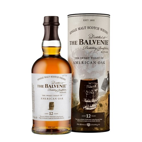 Whisky Balvenie 12 ans - The Sweet Toast of American Oak 43° 70 cl