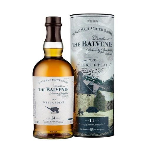 Whisky Balvenie 14 ans - The Week of Peat 48,3° 70 cl