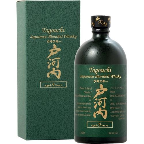 Whisky Togouchi 9 ans 40° 70 cl avec étui