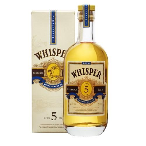 Whisper 5 Ans - Barbados Rum 40° 70 cl