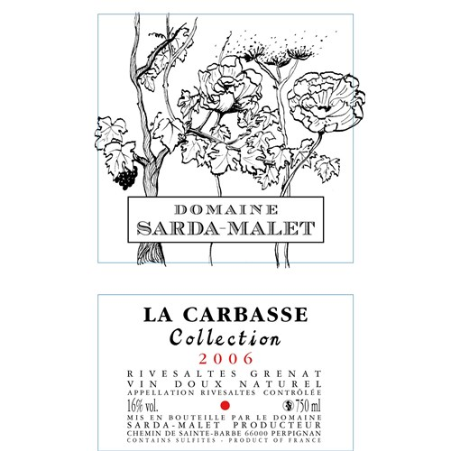 La Carbasse Collection - Domaine Sarda-Malet - Rivesaltes 2005