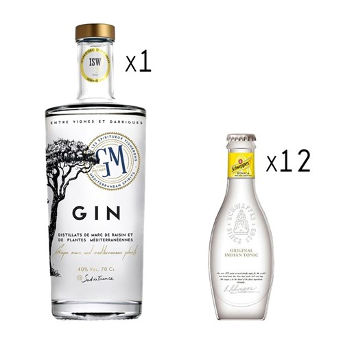 Gin Tonic Pack - Gin Cluster of Montpellier and its Schweppes Heritage