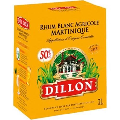 Rhum blanc agricole 50° 3 L Dillon