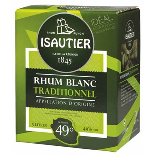 Traditional white rum 49 ° 3 L Isautier